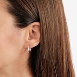 Goldsmiths 9ct White Gold Hoop Earrings