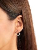 Goldsmiths 9ct Yellow Gold Fluid Hoop Earrings