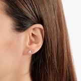Goldsmiths 9ct White Gold Princess Cut Cubic Zirconia Stud Earrings