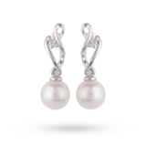 Goldsmiths 9ct White Gold Fresh Water Pearl Drop Earrings