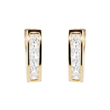 Goldsmiths Yellow Gold Plated 11x11.9mm Leaver Huggie Earrings