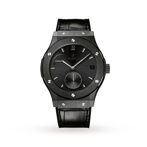 Hublot Classic Fusion Power Reserve All Black 45mm Mens Watch