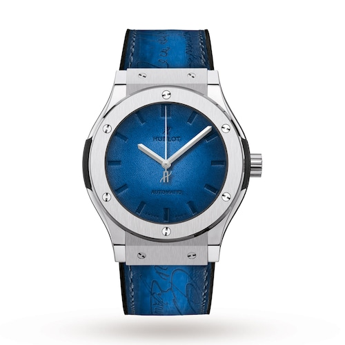 Hublot Classic Fusion Berluti Blue 45mm Mens Watch