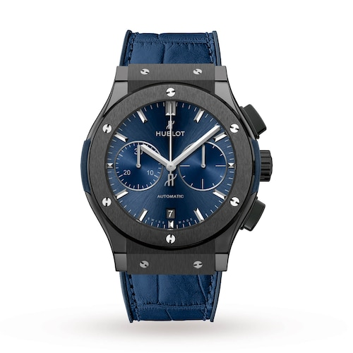 Hublot Classic Fusion Ceramic Blue Chronograph 45mm Mens Watch