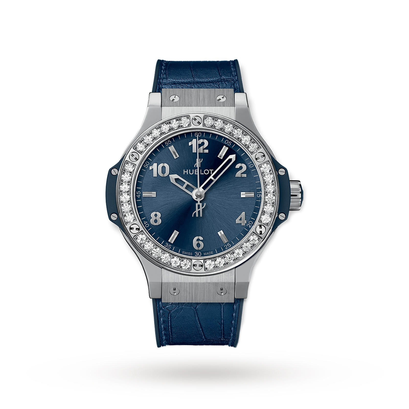 Hublot Hublot Big Bang Steel Blue Diamonds 38mm Ladies Watch