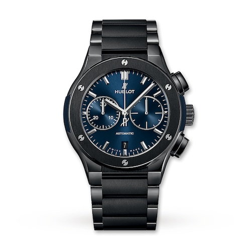 Hublot Classic Fusion Chronograph Ceramic Blue 45mm Mens Watch