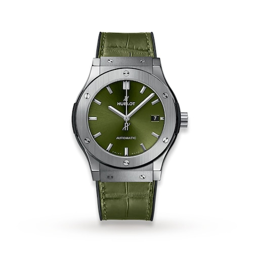 Hublot Classic Fuison Titanium Green 45mm Mens Watch