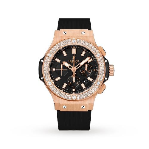 Hublot Big Bang Gold Diamonds 44mm Mens Watch