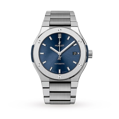 Hublot Classic Fusion Blue Titanium 45mm Mens Watch