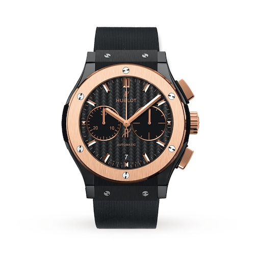 Hublot Classic Fusion Chronograph Ceramic King Gold 45mm Mens Watch