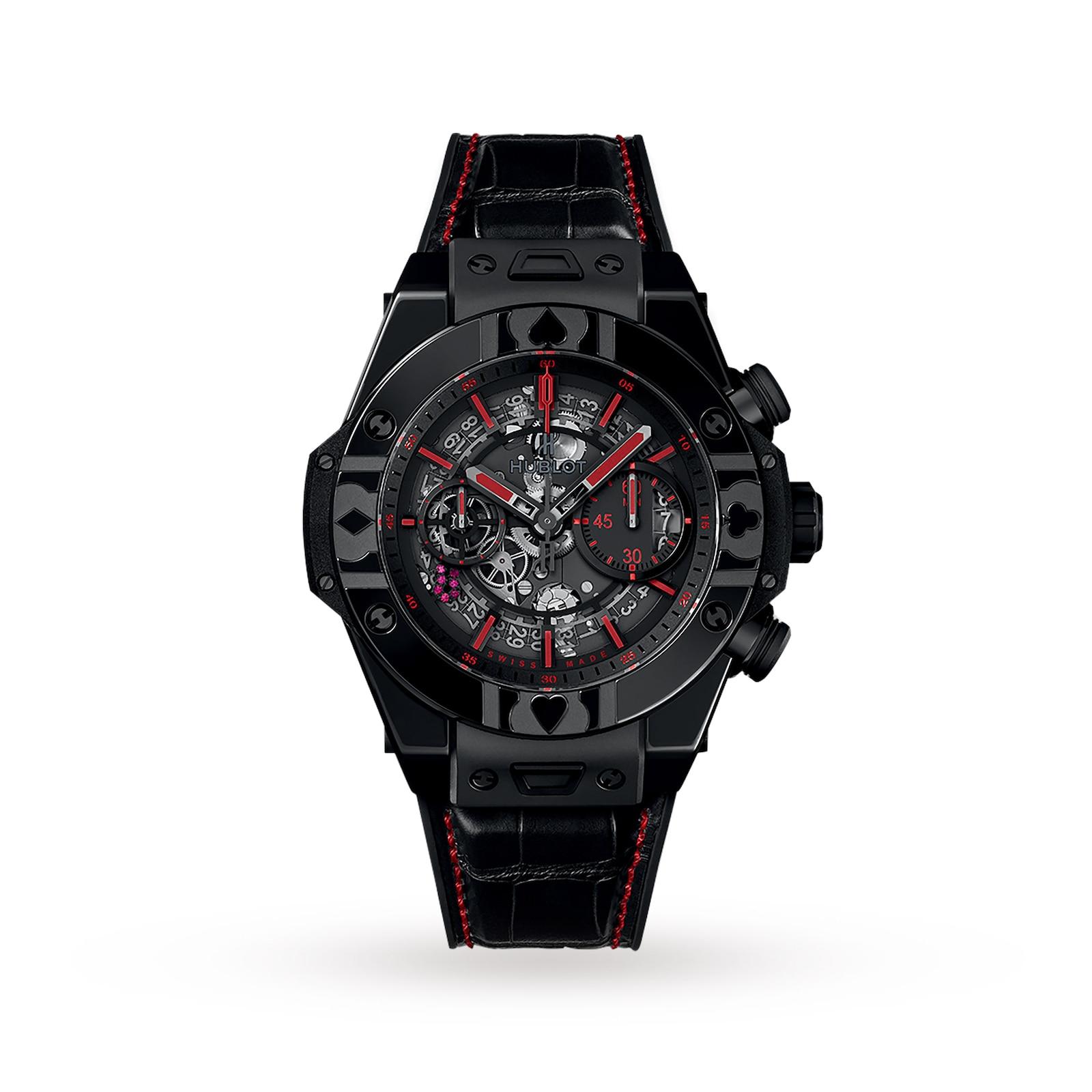 Hublot Hublot Big Bang UNICO World Poker Tour All Black 45mm Mens Watch