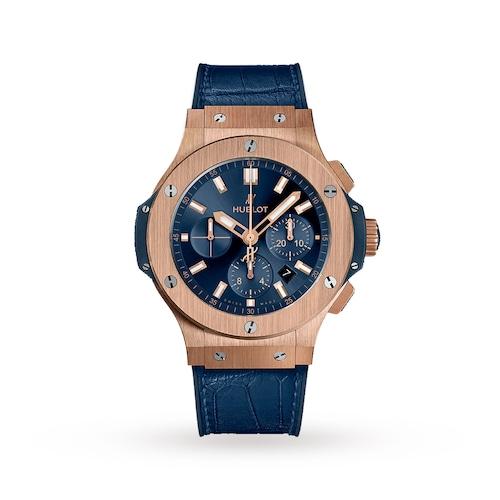 Hublot Big Bang Gold Blue 44mm Mens Watch