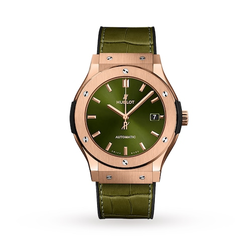 Hublot Classic Fusion King Gold Green 45mm Mens Watch