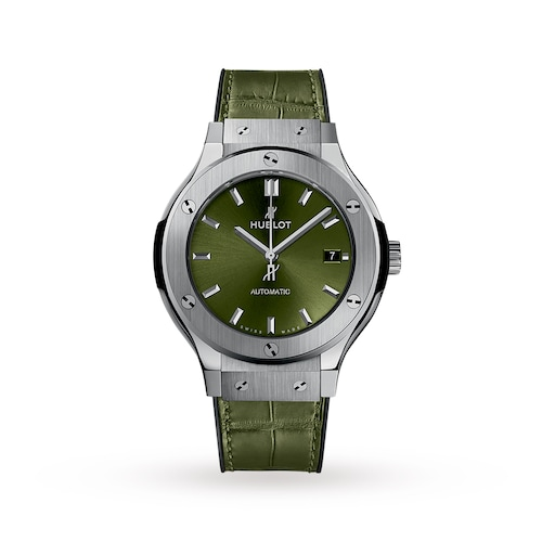 Hublot Classic Fusion Titanium Green 38mm Ladies Watch