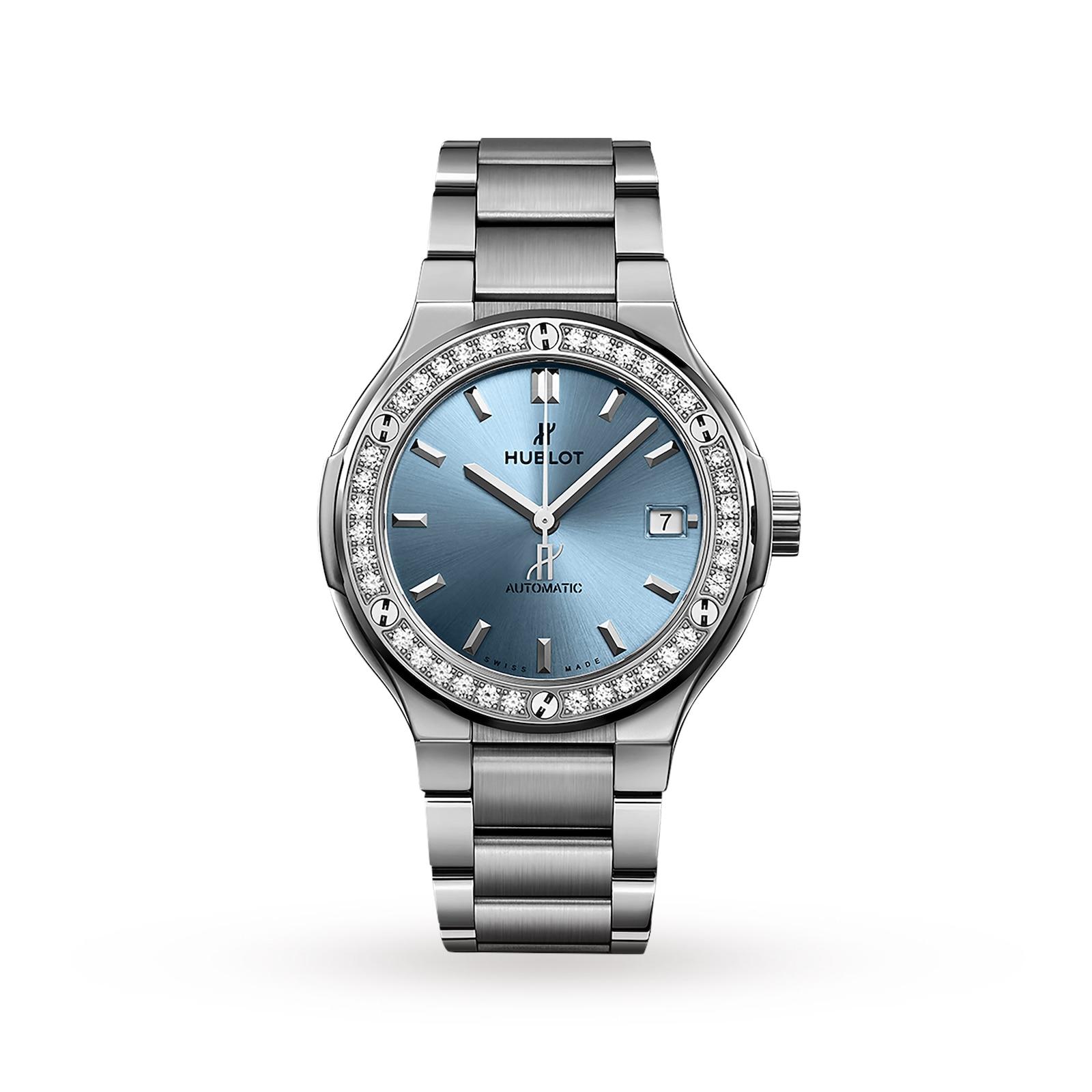 Hublot Hublot Classic Fusion Titanium Light Blue 38mm Ladies Watch