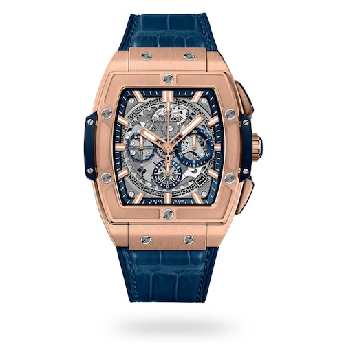 Hublot Spirit of Big Bang King Gold Blue 42mm Mens Watch