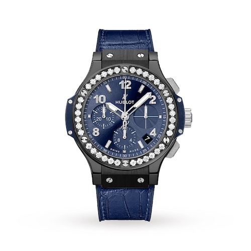 Hublot Big Bang Ceramic Blue Diamonds 41mm Ladies Watch