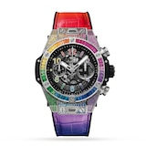 Hublot Big Bang Unico Titanium Rainbow 45mm Mens Watch