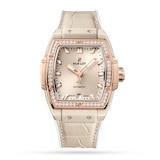 Hublot Spirit Of Big Bang Beige Ceramic King Gold Diamonds 39mm Watch