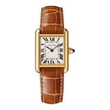Cartier Tank Louis Cartier Watch Small Model, Quartz Movement, Yellow Gold, Leather