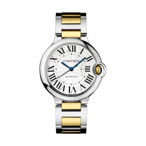 Ballon Bleu de Cartier watch 36 mm, 18K gold and steel