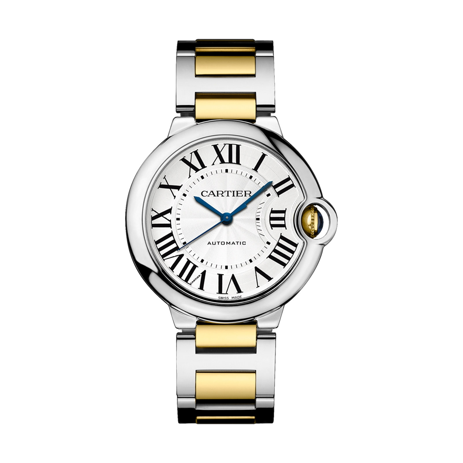 Cartier Ballon Bleu de Cartier watch 36 mm, 18K gold and steel