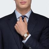 Cartier Tank Louis Cartier watch Large model, 18K yellow gold, leather, sapphire