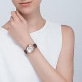 Cartier Ballon Bleu De Cartier Watch 33mm, Automatic Movement, Pink Gold, Leather