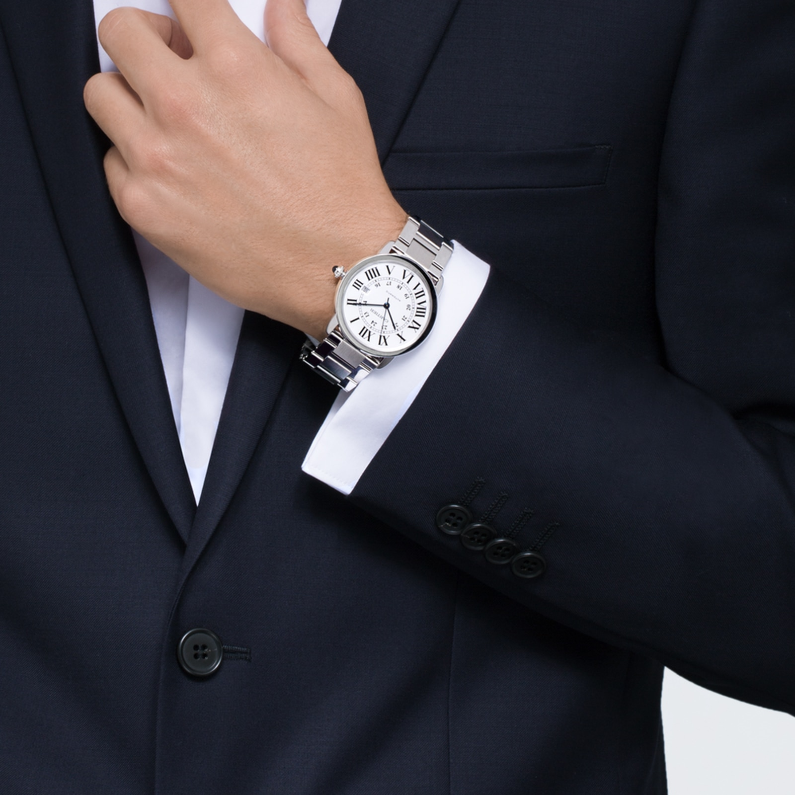 Cartier Ronde Solo de Cartier watch, 42 mm, steel