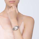 Cartier Ballon Bleu De Cartier Watch 33mm, Automatic Movement, Steel, Diamonds
