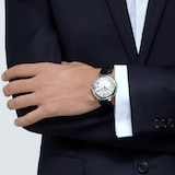 Cartier Ballon Bleu De Cartier Watch 42mm, Automatic Movement, Steel, Leather