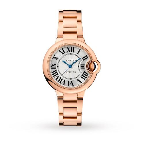 Ballon Bleu de Cartier watch 33 mm, rose gold