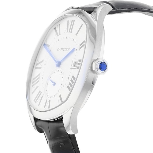 Drive de Cartier watch Steel, leather