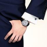 Cartier Drive De Cartier Watch Large Model, Automatic Movement, Steel, Leather