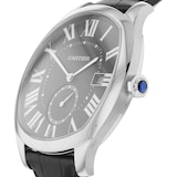 Cartier Drive De Cartier Watch Large Model, Automatic Movement, Steel, Leather