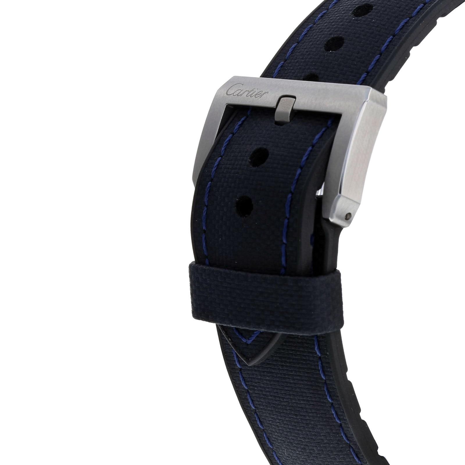 Cartier Calibre de Cartier Diver blue watch, 42 mm, steel, leather and rubber