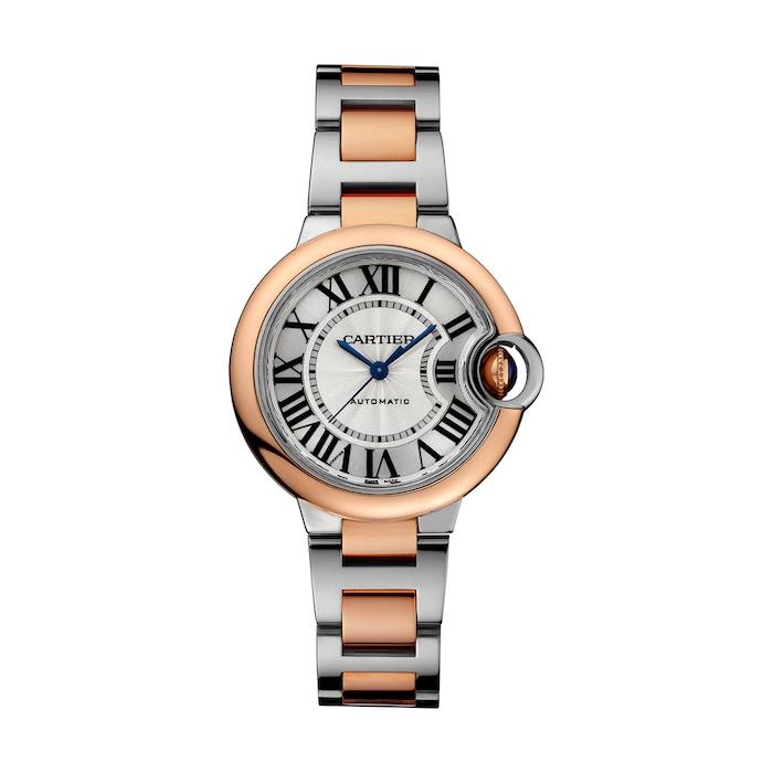 Cartier Ballon Bleu De Cartier Watch 33mm, Automatic Movement, Rose Gold, Steel