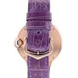 Cartier Ballon Bleu De Cartier Watch 33mm, Automatic Movement, Rose Gold, Diamonds, Leather