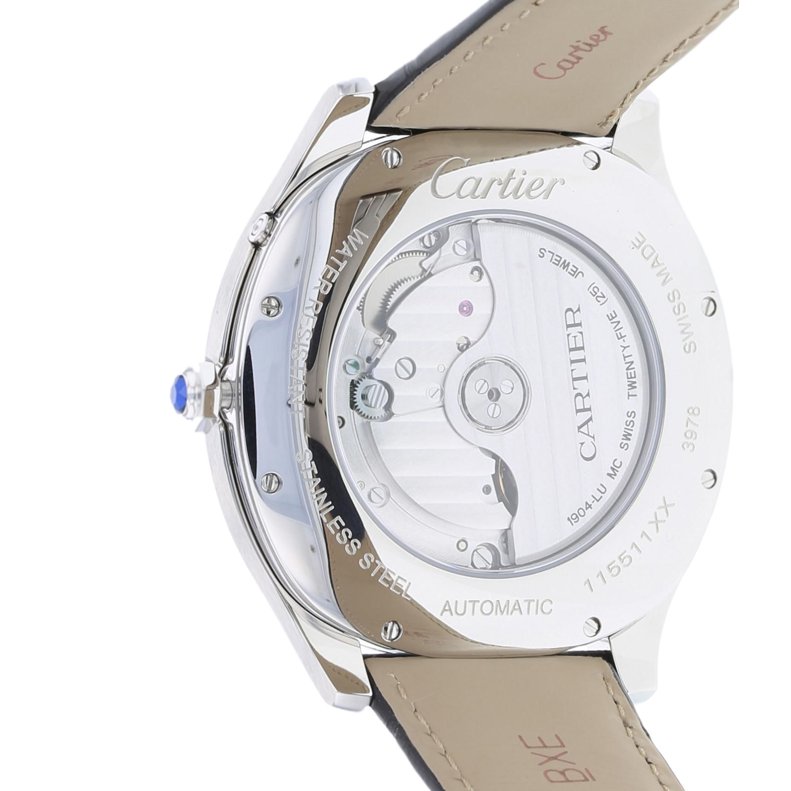 Cartier Drive de Cartier Moon Phases watch Steel, leather