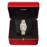 Cartier Panthère De Cartier Watch Medium Model, Quartz Movement, Yellow Gold, Steel