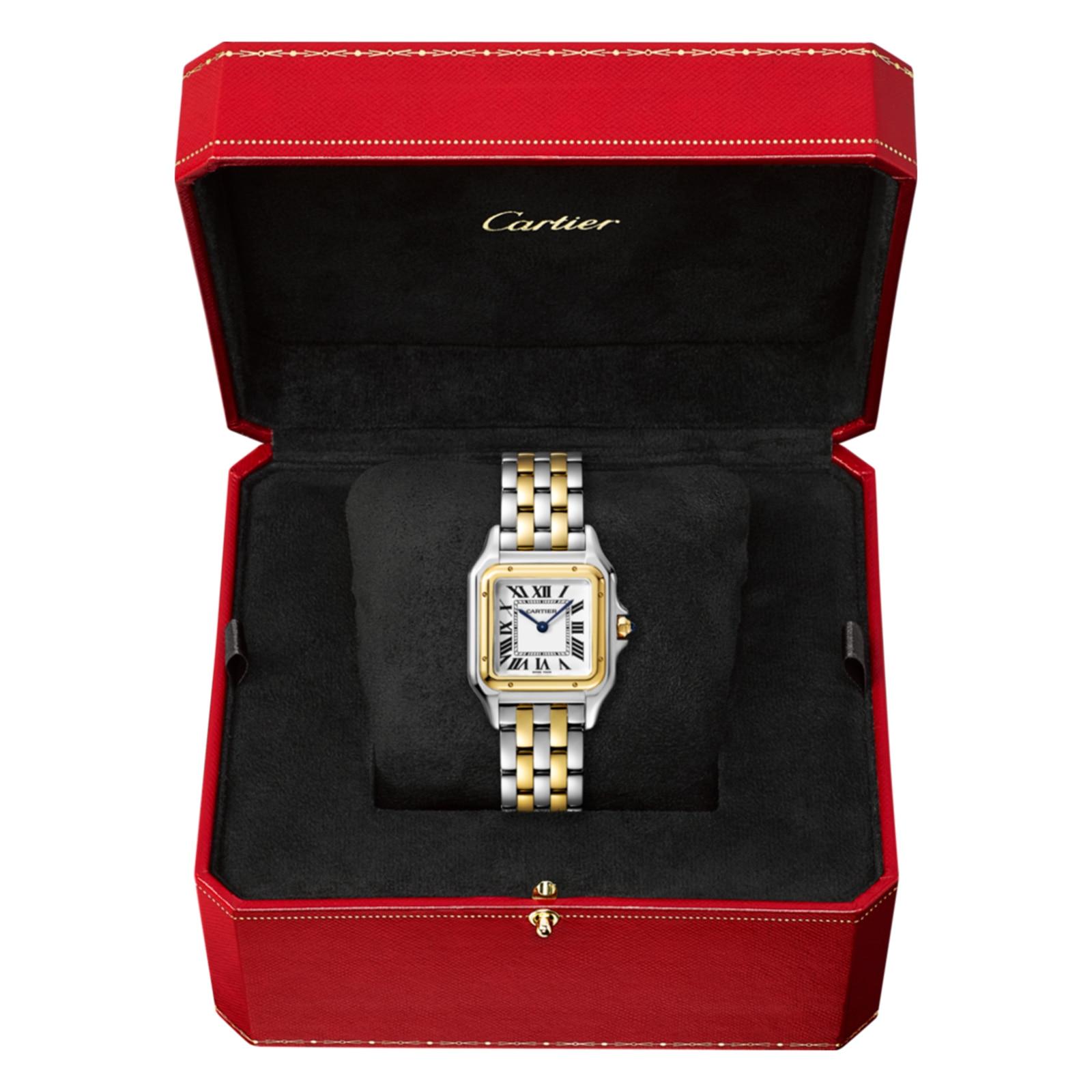 Cartier Panthère de Cartier watch, Medium model, yellow gold and steel