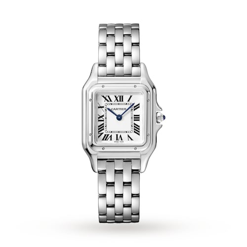 Panthère de Cartier watch, Medium model, steel