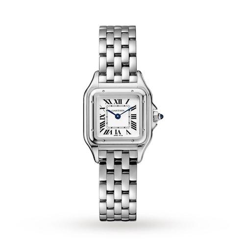 Panthère de Cartier watch, Small model, steel