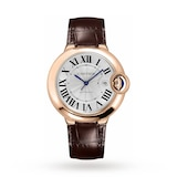 Ballon Bleu de Cartier watch 42 mm, 18K pink gold, leather, sapphire