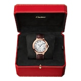 Cartier Ballon Bleu De Cartier Watch 42mm, Automatic Movement, Rose Gold, Leather