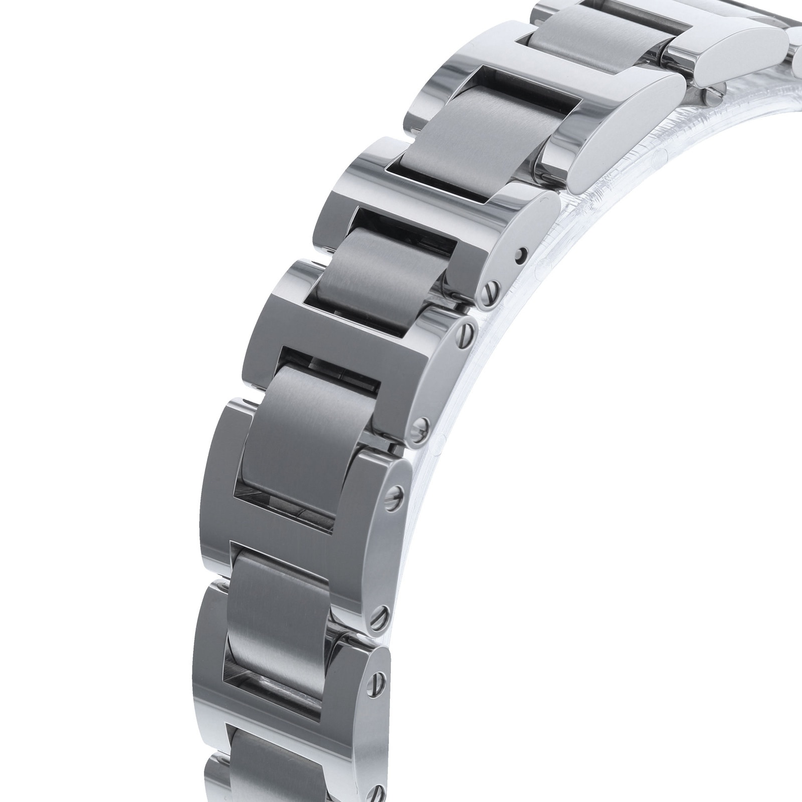 Cartier Ballon Bleu de Cartier watch, 33 mm, steel, diamonds