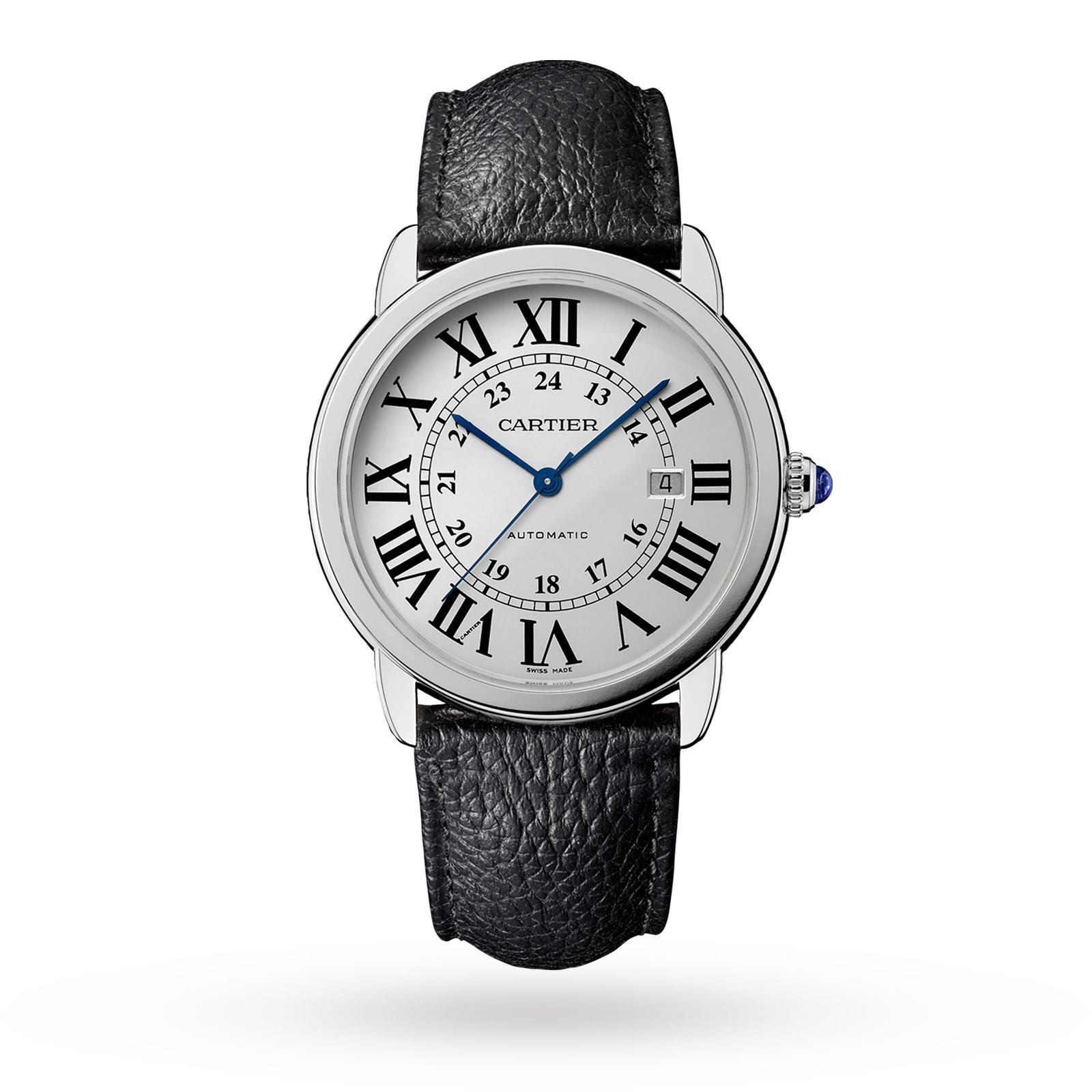 Cartier Montre Ronde Solo de Cartier, 42mm, steel, leather