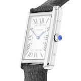 Cartier Tank Solo Watch Large Model, Quartz Movement, Steel, Leather
