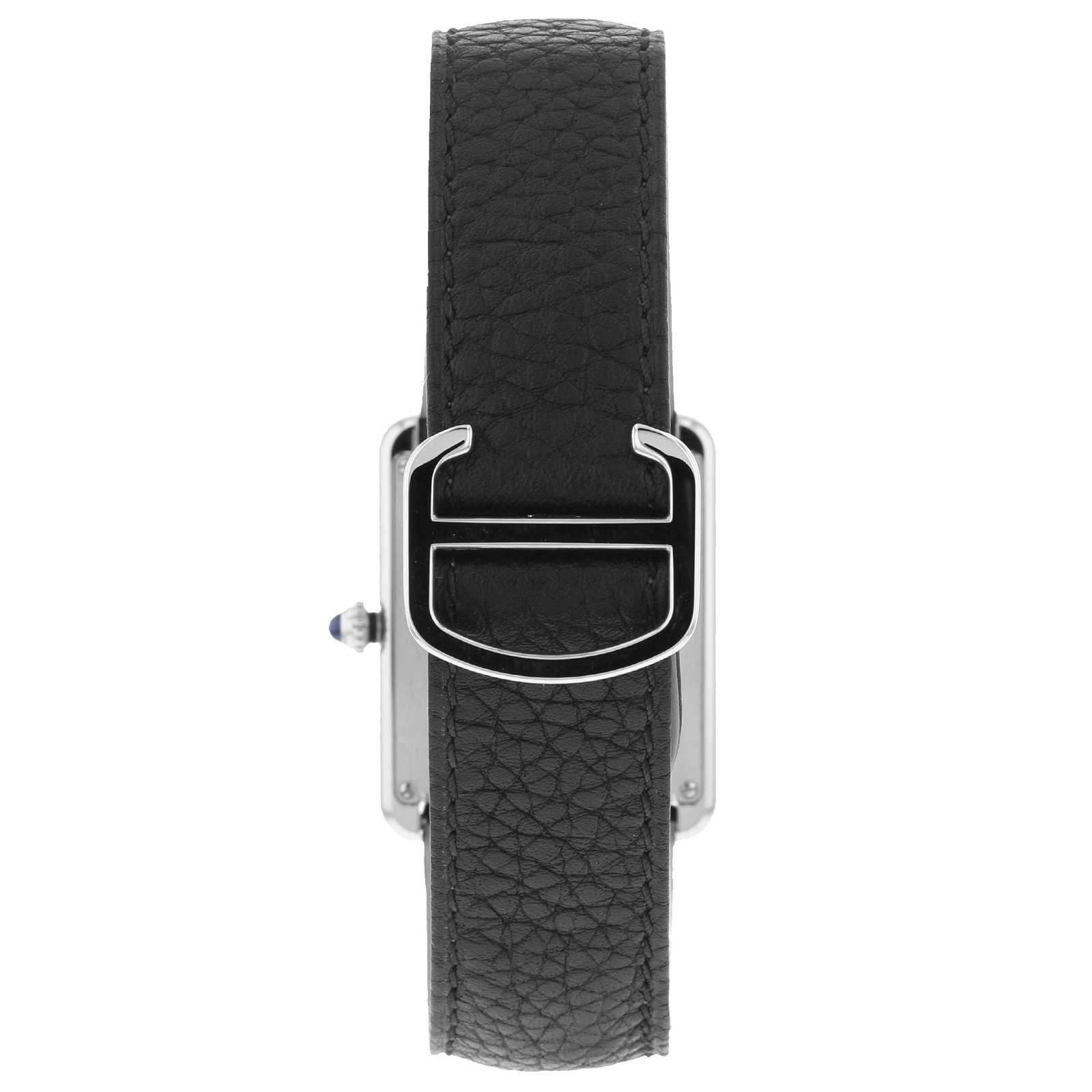 Cartier Montre Tank Solo, Large model, steel, leather
