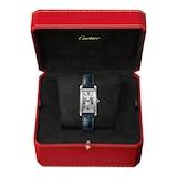 Cartier Tank Américaine Watch Small Model, Quartz Movement, Steel, Leather